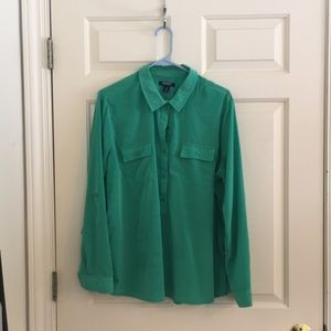 Green Old Navy Tunic Blouse, XL